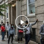 Long Lines on First Day of Early Voting in New York