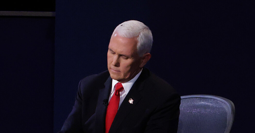 A fly sat atop Mike Pence's head for two minutes during the V.P. debate.