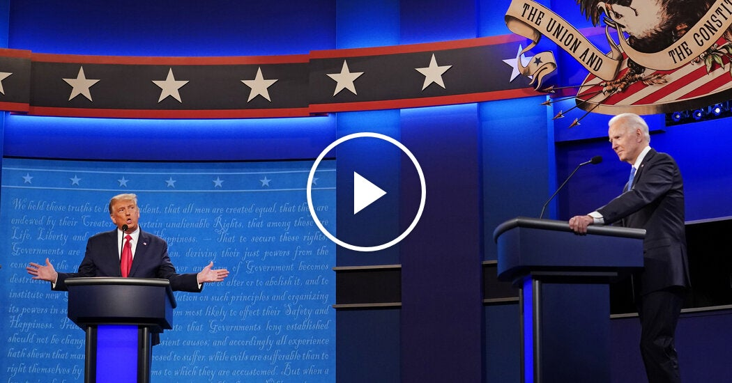 Watch: Highlights From the Final 2020 Presidential Debate