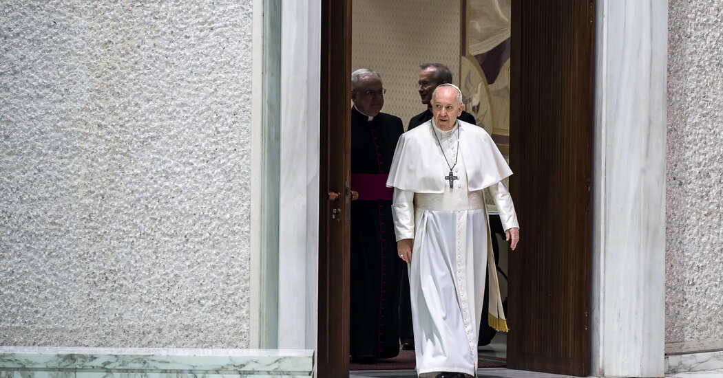 Pope Francis, in Shift for Church, Voices Support for Same-Sex Civil Unions