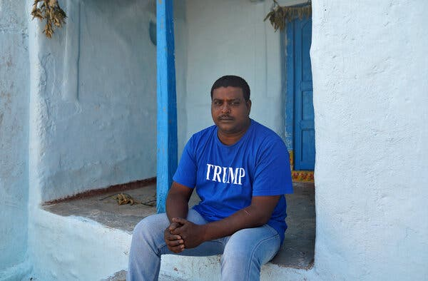 From Rural India, He Worshiped Trump and Built a Shrine