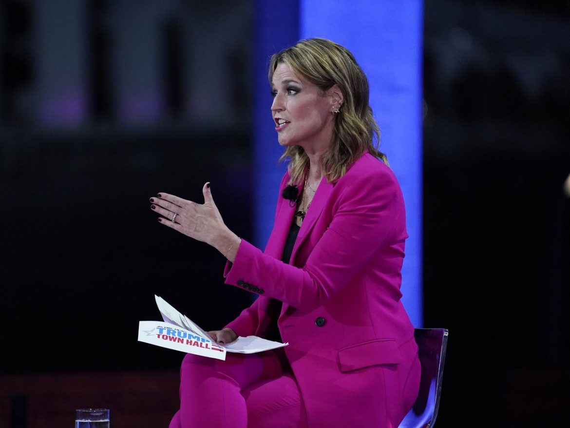 Savannah Guthrie's rigorous questioning of Trump changes subject for grateful NBC