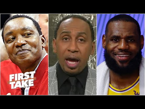Stephen A. reacts to Isiah Thomas' 'blasphemous' comments about LeBron moving past MJ   First Take