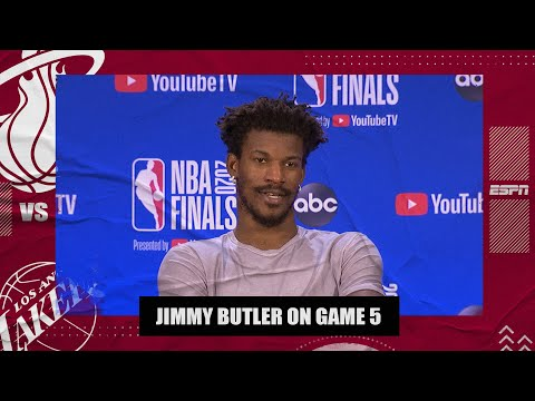 A tired Jimmy Butler reflects on his big triple-double in Game 5 vs. Lakers | 2020 NBA Finals