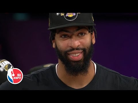 Anthony Davis speaks about honoring Kobe Bryant with Lakers' NBA title win | 2020 NBA Finals