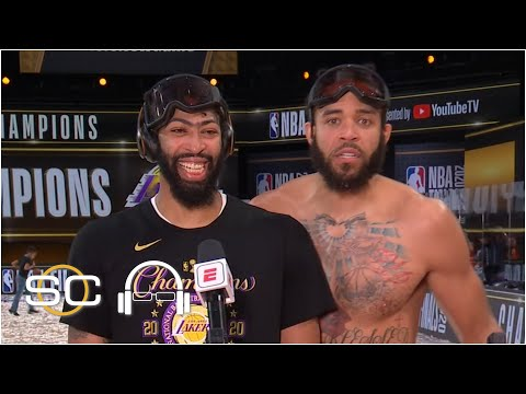 Anthony Davis talks about first NBA Championship, gets videobombed by Javale McGee | SC with SVP