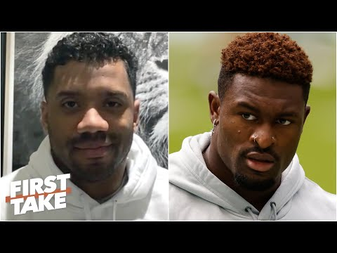 Russell Wilson on working with 'clutch' WR DK Metcalf & new 'DangerTalk' podcast | First Take