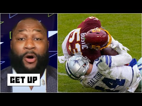 Why didn't Cowboys players get in Jon Bostic's face after the Andy Dalton hit? | Get Up