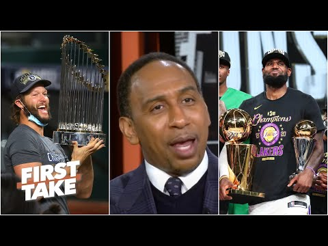 It's 'phenomenal' that Lakers and Dodgers honored Kobe by winning titles – Stephen A. | First Take