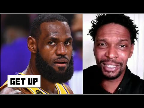 Chris Bosh reacts to the Lakers' dominant Game 1 win against the Heat | Get Up