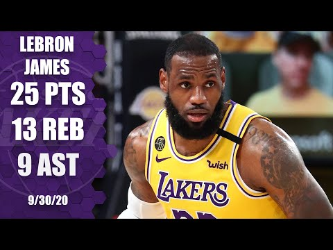 LeBron James records 25-13-9 for Lakers vs. Heat [GAME 1 HIGHLIGHTS] | 2020 NBA Finals