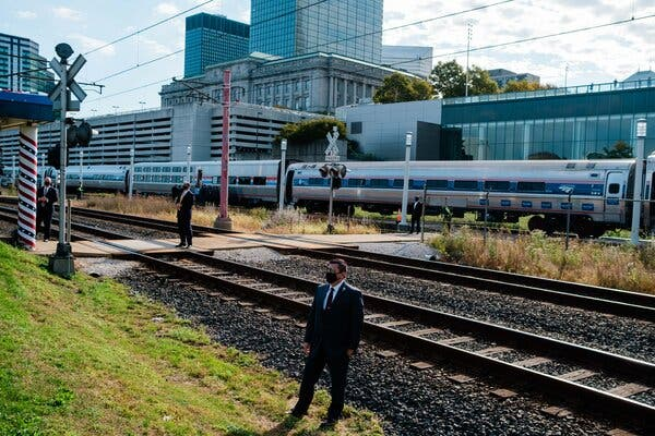 Biden, an Amtrak Evangelist, Could Be a Lifeline for a Rail Agency in Crisis