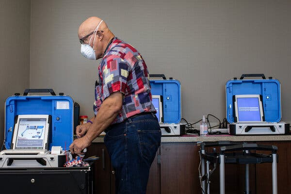 Eight-Hour Waits. Machine Glitches. Why Early Voting in Some States Has Had a Rough Start.