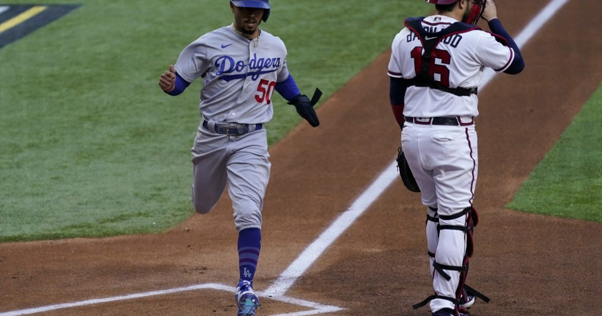 Column: Leadoff hit for Mookie Betts sets table in Dodgers' historic rout