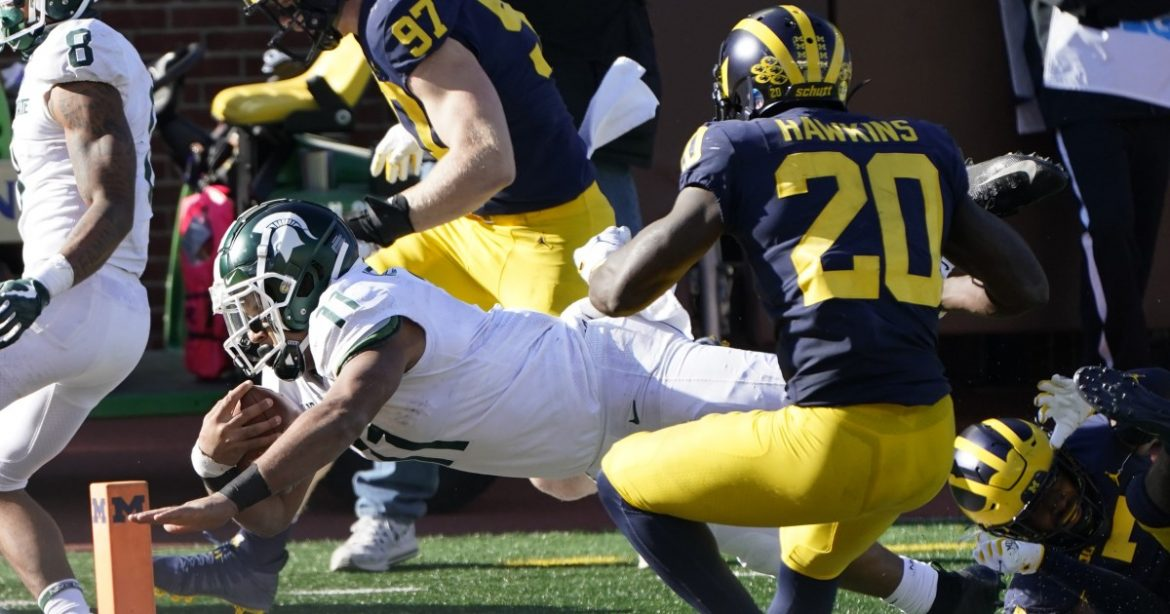 College football: Michigan State upsets Michigan in Mel Tucker's rivalry debut