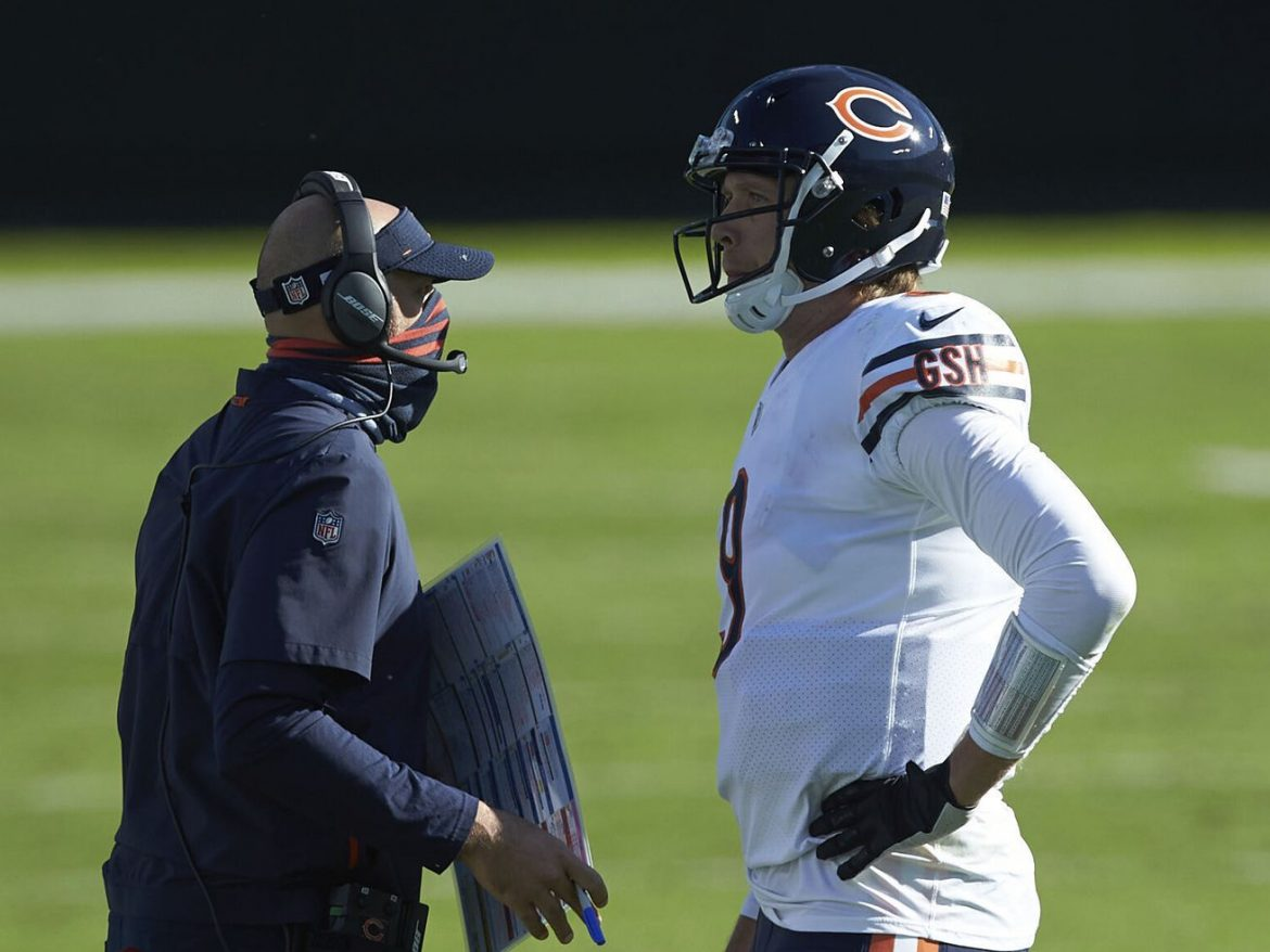Matt Nagy, Nick Foles must worry about more pressing matters than 'Griesegate'