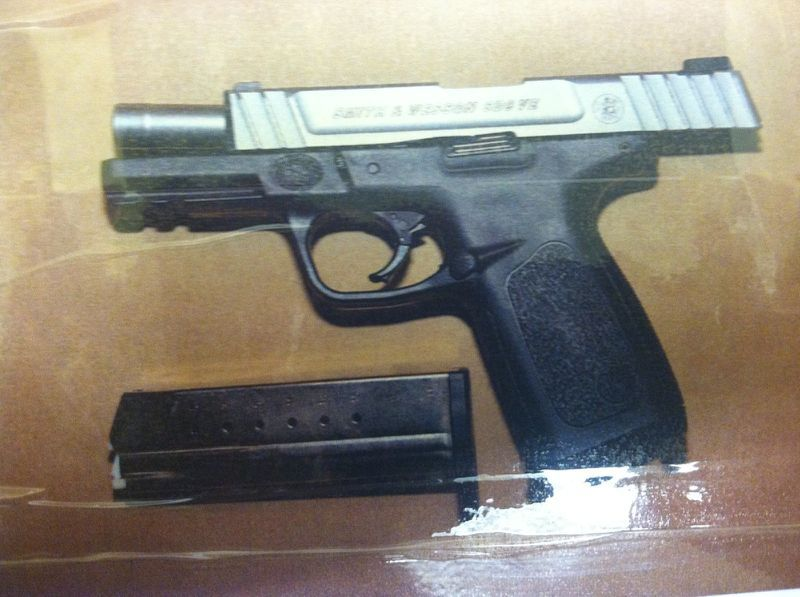 A Smith & Wesson 9mm SD9VE handgun like the one used in the Dec. 22 shooting. This weapon was recovered by police in Connecticut in 2015.