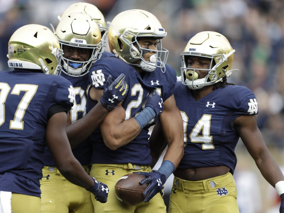 Notre Dame tight end Tommy Tremble makes blocking his business