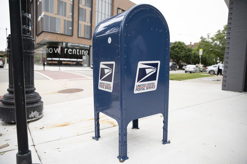 The mailbox at the corner of East 53rd St. and South Cornell Ave. in East Hyde Park, in September.