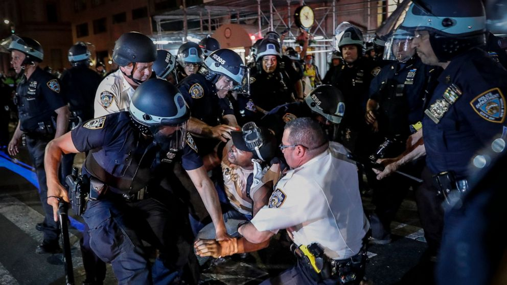 NYC sued over clashes with Floyd protesters