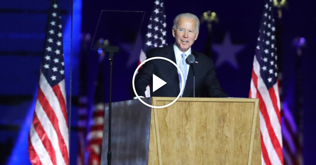 'The People of This Nation Have Spoken,' Biden Says