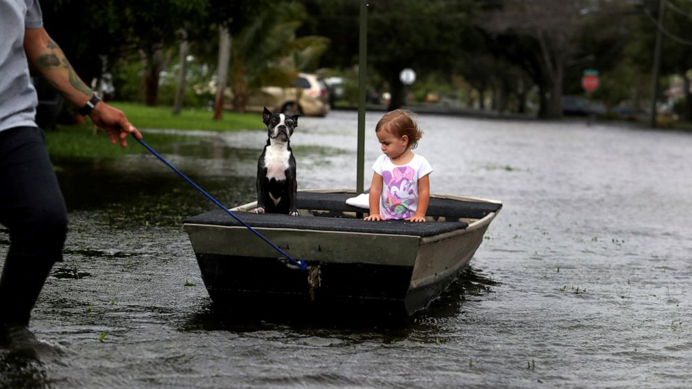 Florida cities mop up after deluge from Tropical Storm Eta
