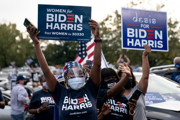 As Biden Inches Ahead in Georgia, Stacey Abrams Draws Recognition and Praise