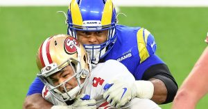 Rams' Aaron Donald returns to making big plays and causing havoc against 49ers