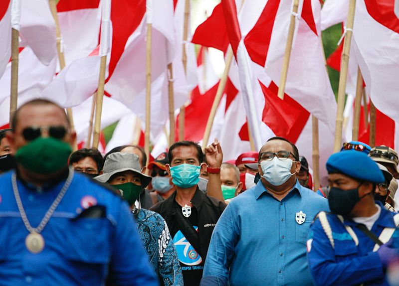 Indonesian unions file judicial review to challenge job creation law