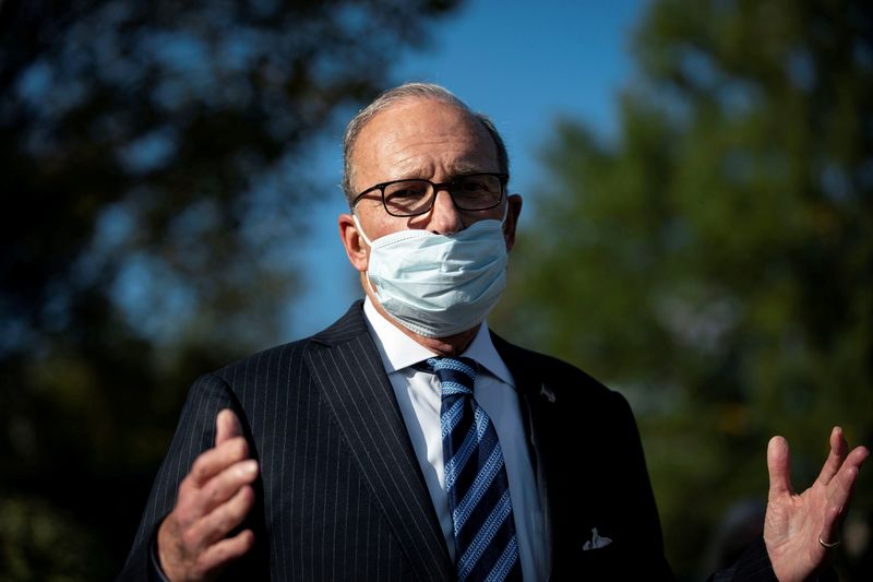 Kudlow says unclear if COVID-19 aid would be part of government funding bill