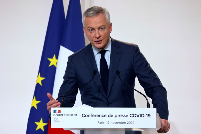 Expanded French business support to cost 1.6 billion euros per month