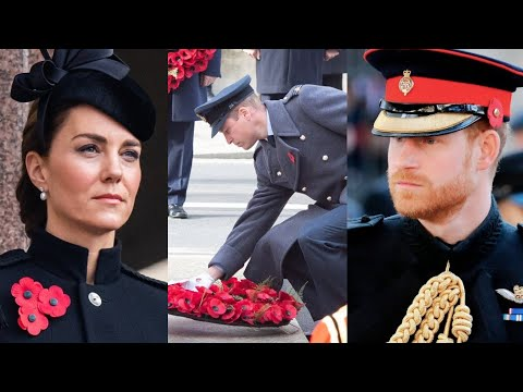 Royals Reunite at Remembrance Event Without Prince Harry