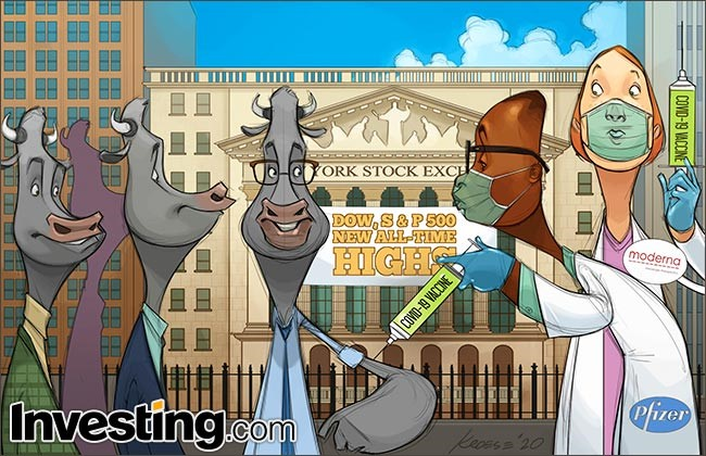 Comic: Stock Market Weighs Soaring COVID-19 Cases, Progress On Vaccines