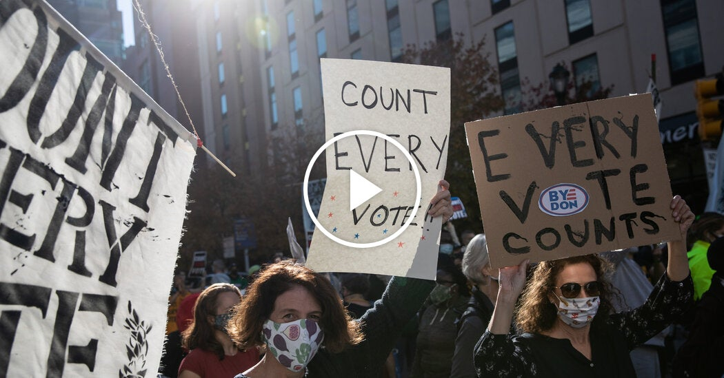 Dueling Protests in Philadelphia for and Against Counting Votes
