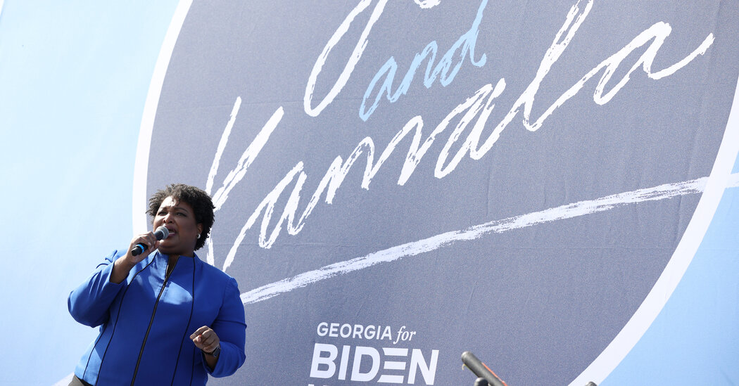 Stacey Abrams draws credit and praise as Biden inches ahead in Georgia.