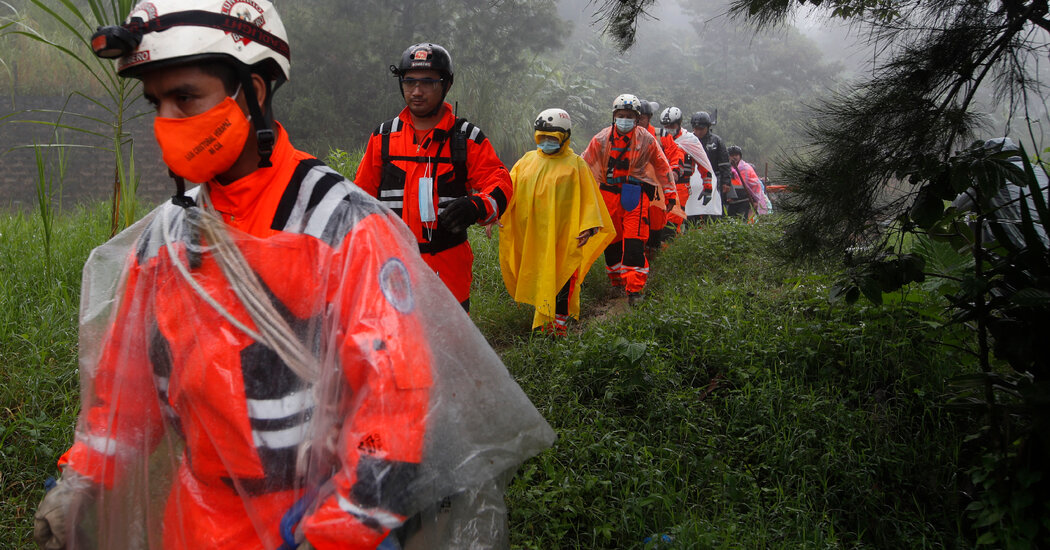 Guatemala Rescuers Search for Scores of People Buried in Mudslide Caused by Eta