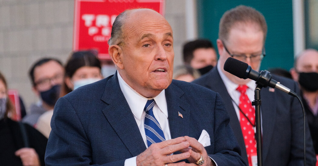 Giuliani Is Said to Seek $20,000 a Day Payment for Trump Legal Work