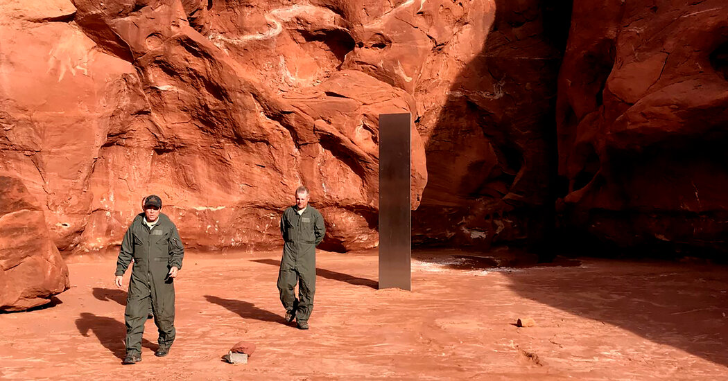 That Mysterious Monolith in the Utah Desert? It's Gone, Officials Say