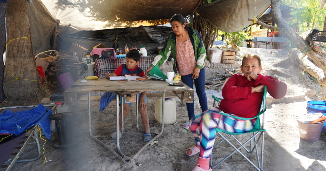 At a refugee camp at the U.S.-Mexico border, prospective migrants hope for a Biden win.