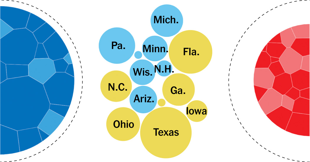 Wondering how each candidate can get to 270? Try out our interactive diagram.