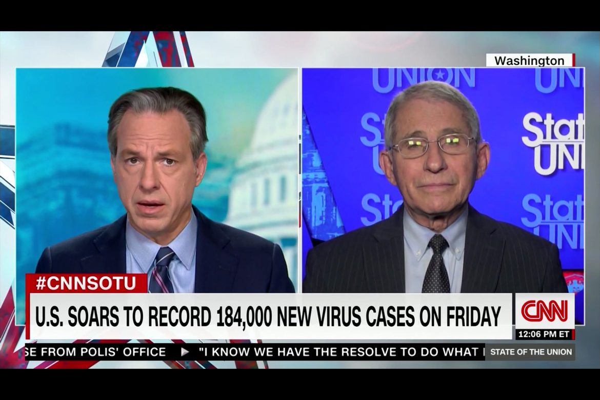 Fauci Warns US Virus Death Toll Could Surpass 400,000 by March