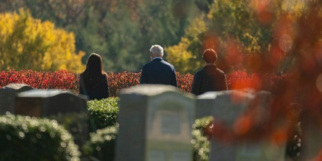 Biden visits his late son Beau's gravesite after being named president-elect