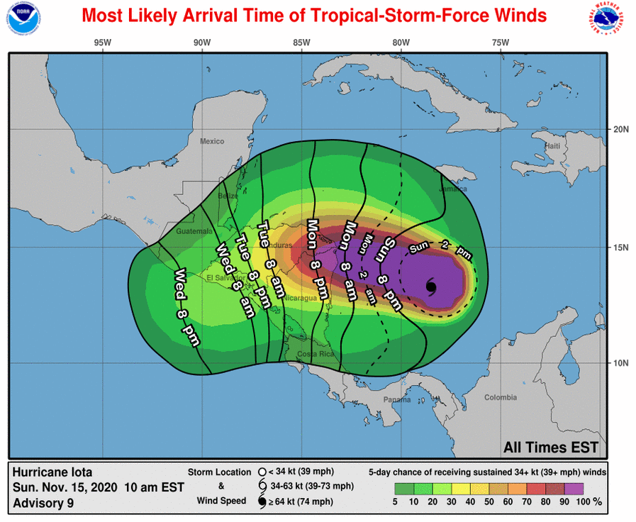 Hurricane Iota becomes Category 4 storm, new threat to Central America
