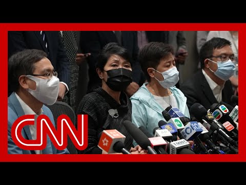 Hong Kong pro-democracy lawmakers resign en masse