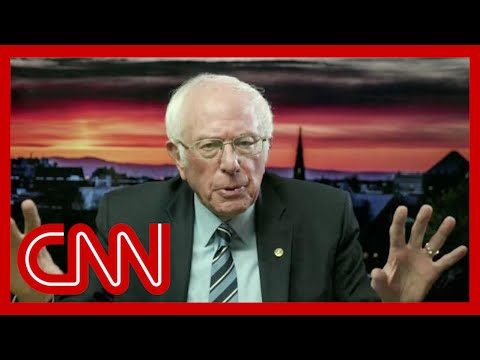 Watch Sanders' reaction to Trump refusing to concede