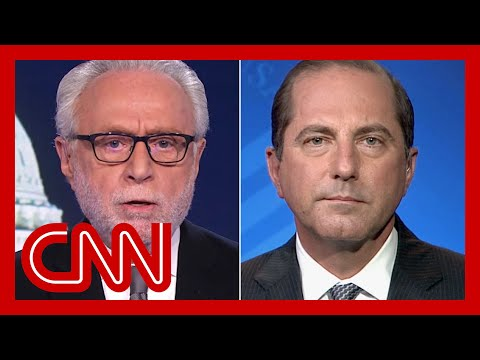 Blitzer presses Azar: Where is President Trump right now?