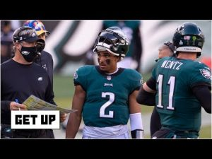 Is Doug Pederson even considering a QB change from Carson Wentz to Jalen Hurts? | Get Up