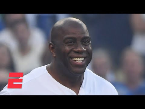 Magic Johnson reacts to the Lakers and Dodgers winning championships just weeks apart   KJZ