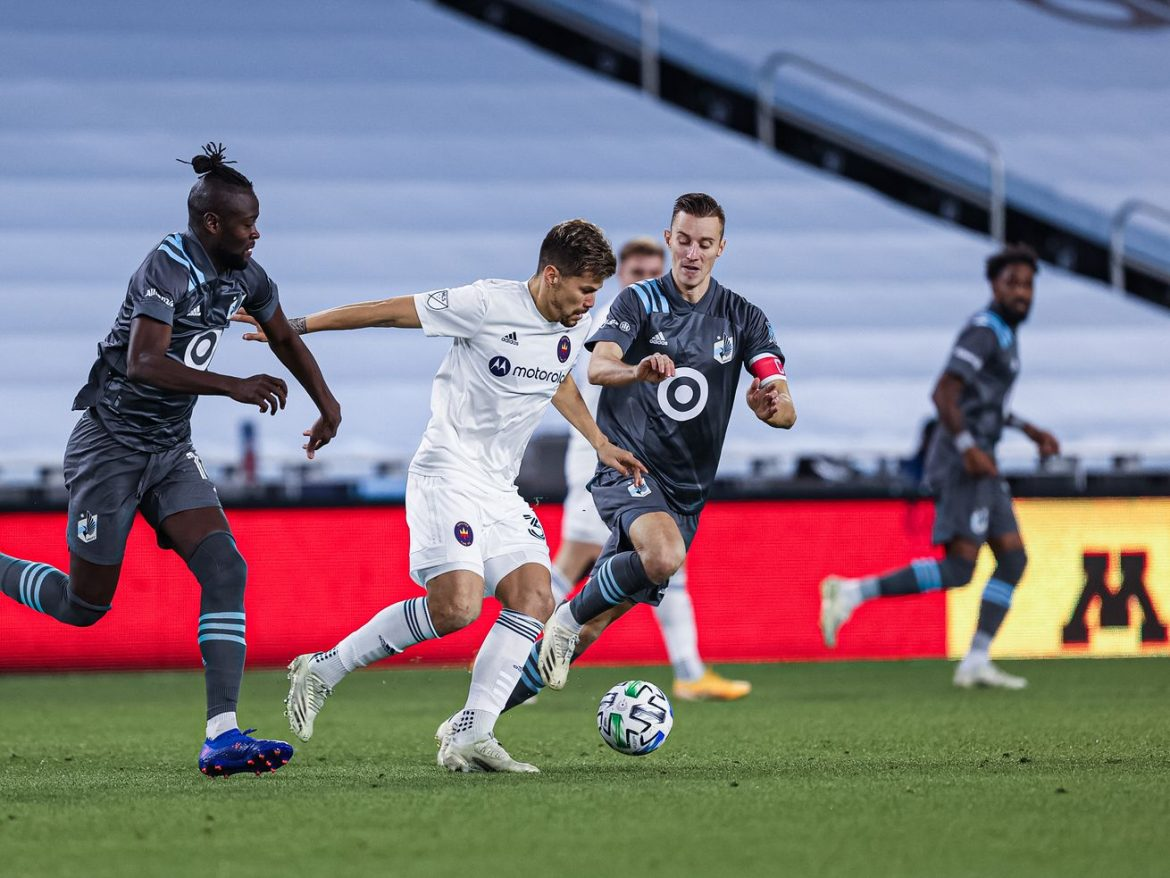 Fire settle for 2-2 tie at Minnesota after taking 2-0 lead