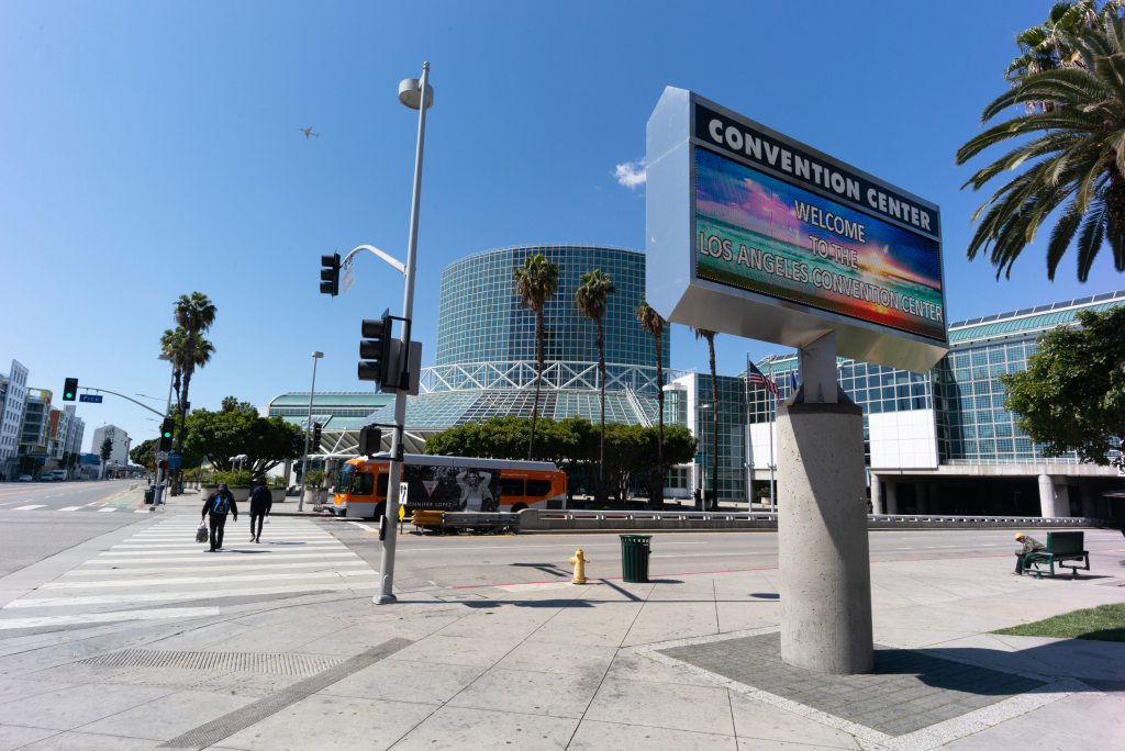 LA Convention Center, sidelined by the pandemic, now considered as a homeless shelter
